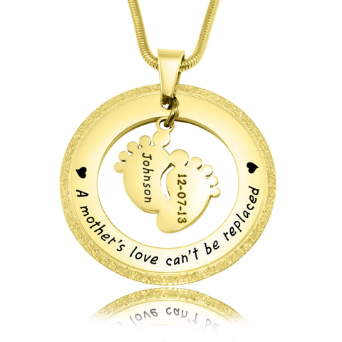 Sparkling Cant Be Replaced Necklace Single Feet 18mm Gold Personalized Belle Fever 3
