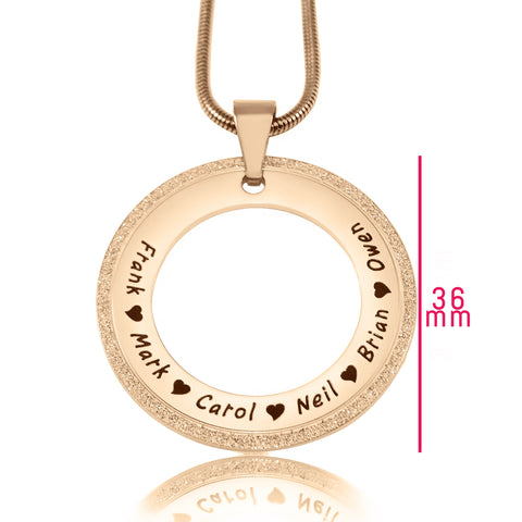 Sparkling Circle of Trust Necklace Rose Gold Personalized Belle Fever 6