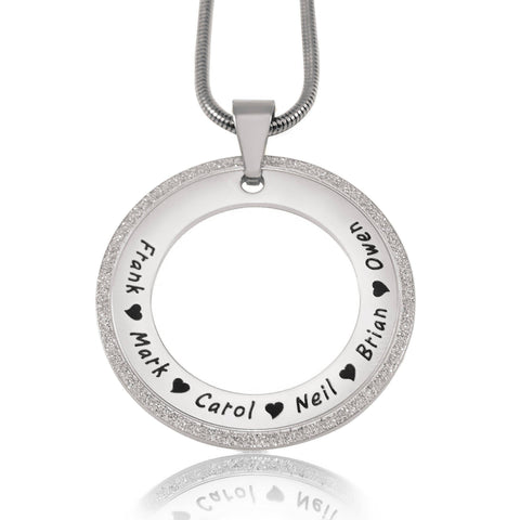 Sparkling Circle of Trust Necklace Silver Personalized Belle Fever 2