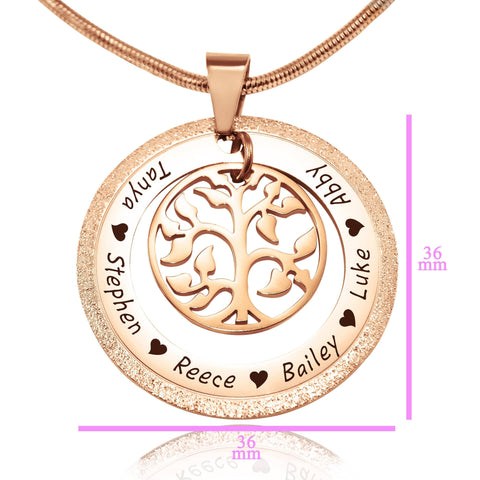 Sparkling My Family Tree Necklace Personalized Belle Fever 8