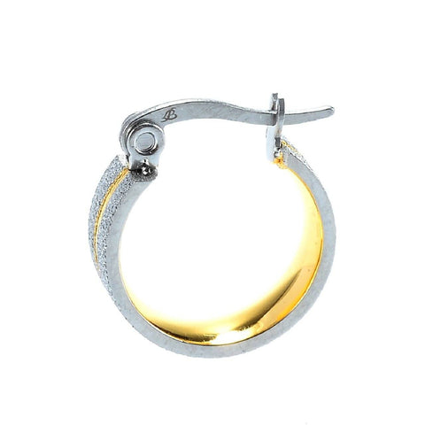 Sparkling Two Tone Hoop Earrings Belle Fever 3