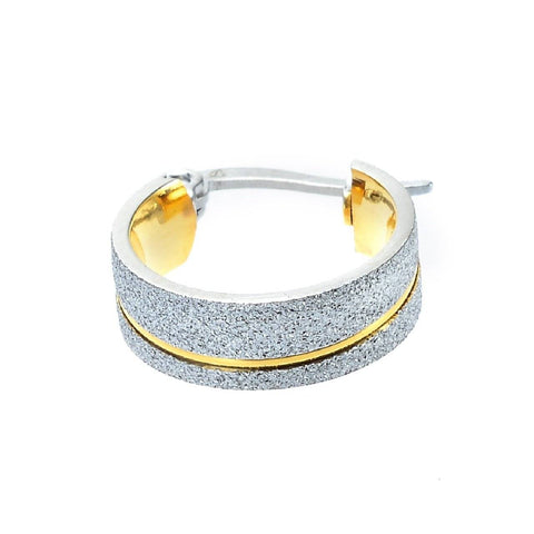 Sparkling Two Tone Hoop Earrings Belle Fever 4