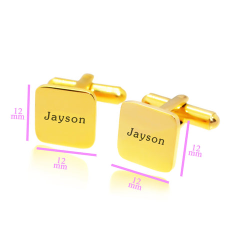 Personalized Square Cufflink Belle Fever 5