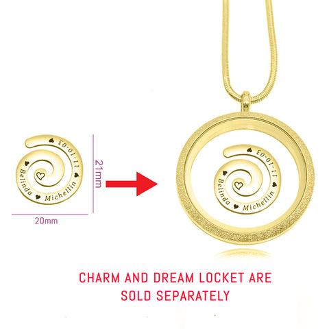 Swirl Charm for Medium 30mm Dream Locket 2