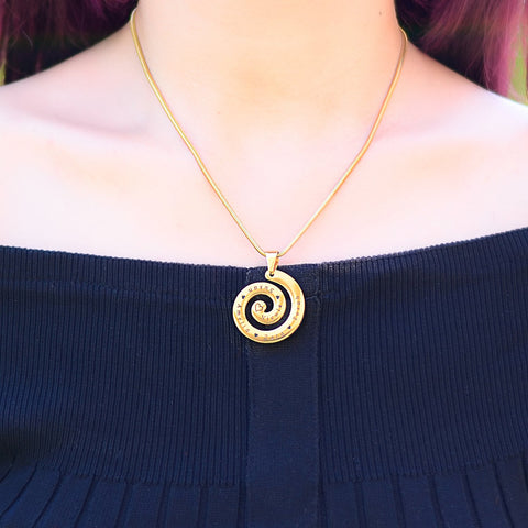 Swirls of Time Necklace Personalized Belle Fever 9