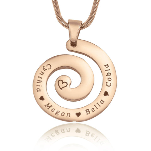 Swirls of Time Necklace Rose Gold Personalized Belle Fever 4