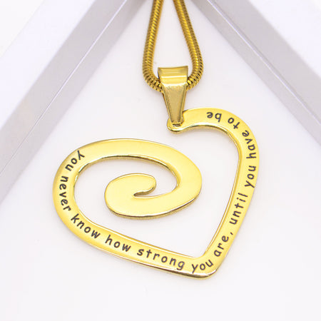 Swirls of My Heart Necklace Personalized Belle Fever 1
