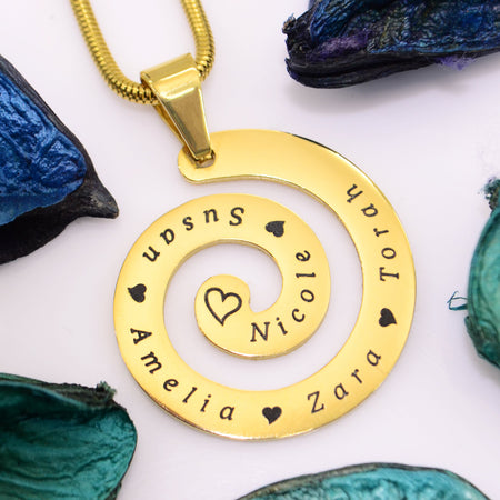 Swirls of Time Necklace Personalized Belle Fever 1