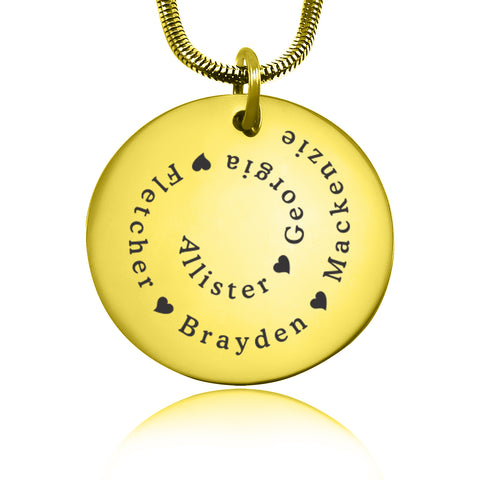 Swirls of Time Disc Necklace personalized Belle Fever 3