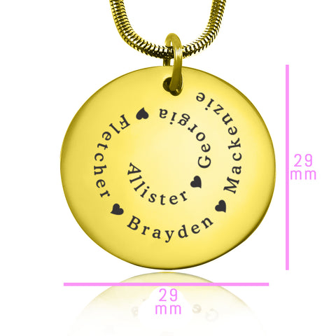 Swirls of Time Disc Necklace personalized Belle Fever 6