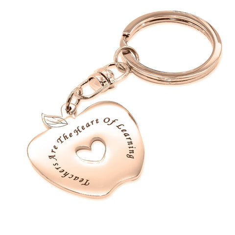 Personalized Teacher's Keyring Rose Gold Personalized Belle Fever 3