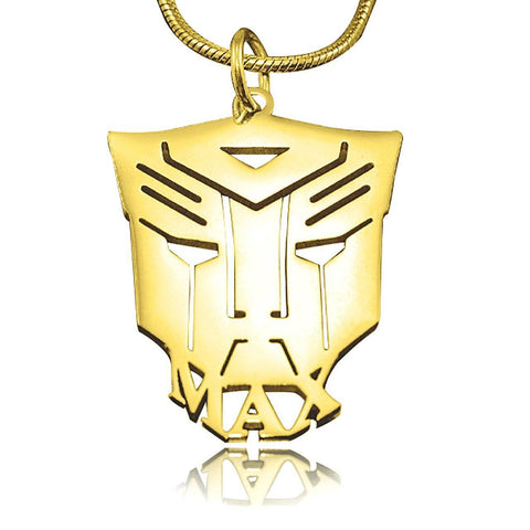Transformer Name Necklace Personalized Belle Fever 3