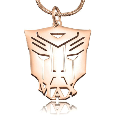 Transformer Name Necklace Personalized Belle Fever 4