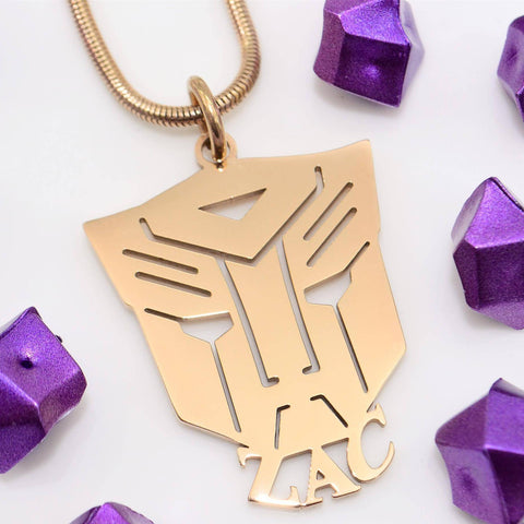 Transformer Name Necklace Personalized Belle Fever 1