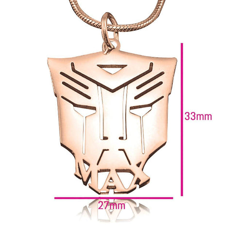 Transformer Name Necklace Personalized Belle Fever 5