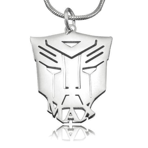 Transformer Name Necklace Personalized Belle Fever 2