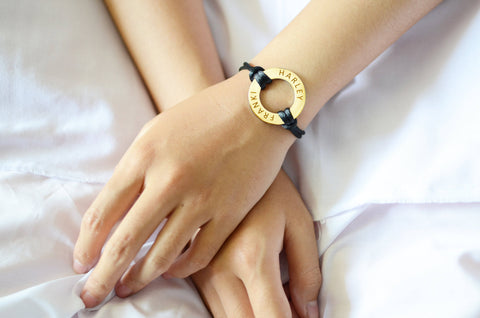 Washer Bracelet Gold Personalized Belle Fever 5