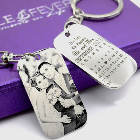 Wedding Tag Photo Keyring Personalized Belle Fever 1