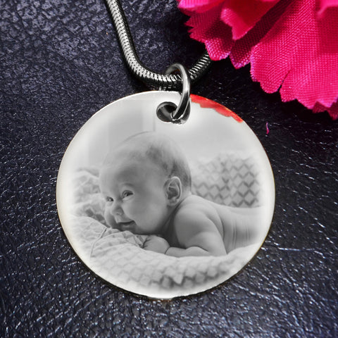 Disc Photo Necklace