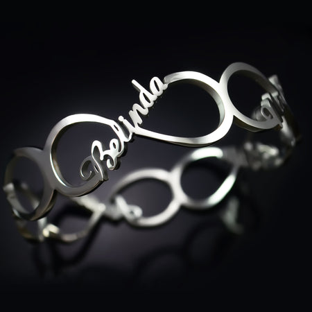 Endless Single Infinity Bangle Personalized Belle Fever 1