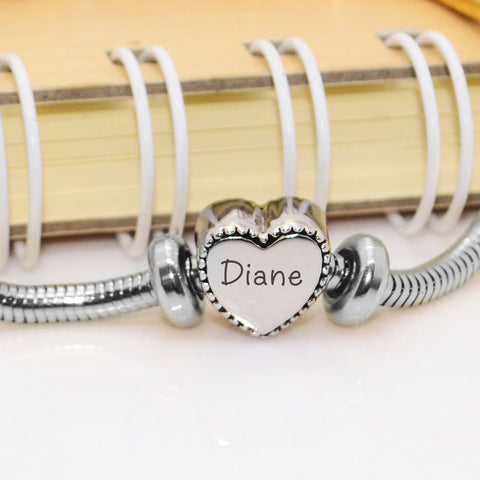 Framed Heart Personalized Charm for Moments Bracelet