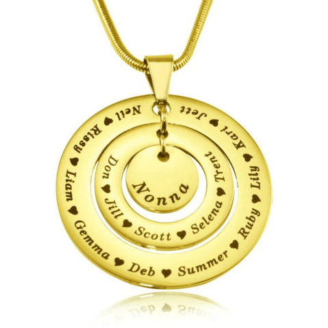 Circles of Loved Ones Personalized Necklace Belle Fever 3