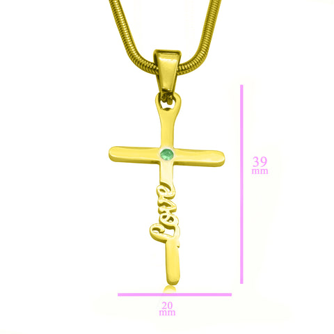 Unfailing Love Cross Name Necklace