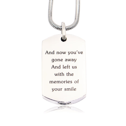 Personalised Memory Tag Canister Necklace-Silver- BELLE FEVER Personalised Jewellery