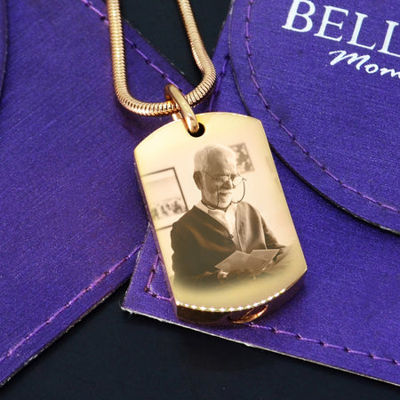 Personalized Memory Photo Tag Canister Necklace 1