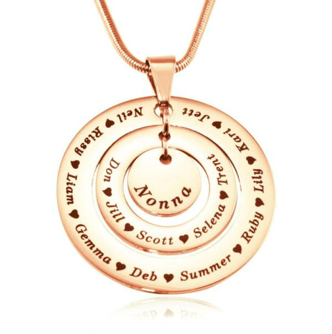 Circles of Loved Ones Personalized Necklace Belle Fever 4