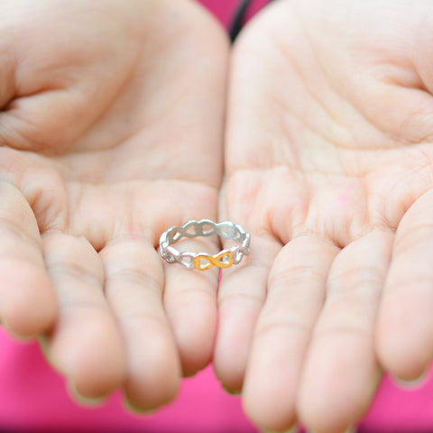 Endless Infinity Ring Two Tone Gold Belle Fever 4