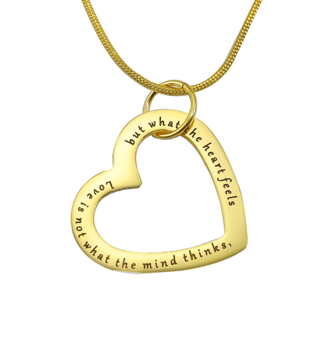 Always in My Heart Necklace Gold Personalized Belle Fever 3