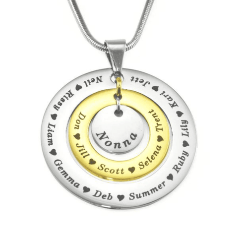 Circles of Loved Ones Personalized Necklace Belle Fever 5