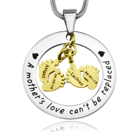 Cant Be Replaced Necklace Double Feet 12mm Personalized Belle Fever 5