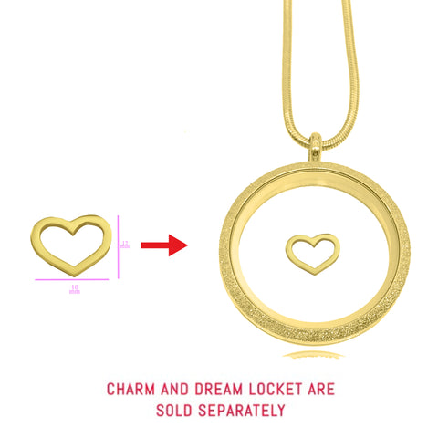 Cut Out Heart Charm for Dream Locket