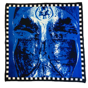Blue face scarfs