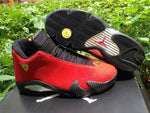 New Original Jordan 14 retro men shoes basketball shoes sneakers Classic black yellow and red FV3661 FV7405-900