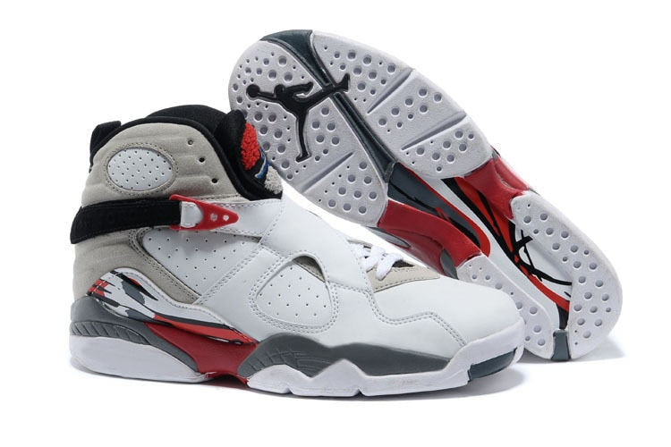 New high-quality original men's jordan 8 homme retro Men woman shoes basketball shoes sneakers Lovers shoes White red CI0550-118
