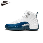 Original Air Jordan 12 Retro BG aj12 Joe 12 French Blue Basketball Shoes - 153265 113
