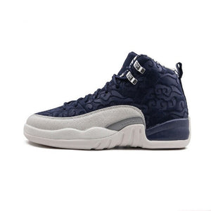 Original Air Jordan 12 Retro BG aj12 Joe 12 French Blue Basketball Shoes - 153265 113 - cybershoestore.com