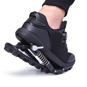 Mechanical running shoes Bouncing Spring shock absorption running Shoes Women men Sneaker Shoes - cybershoestore.com
