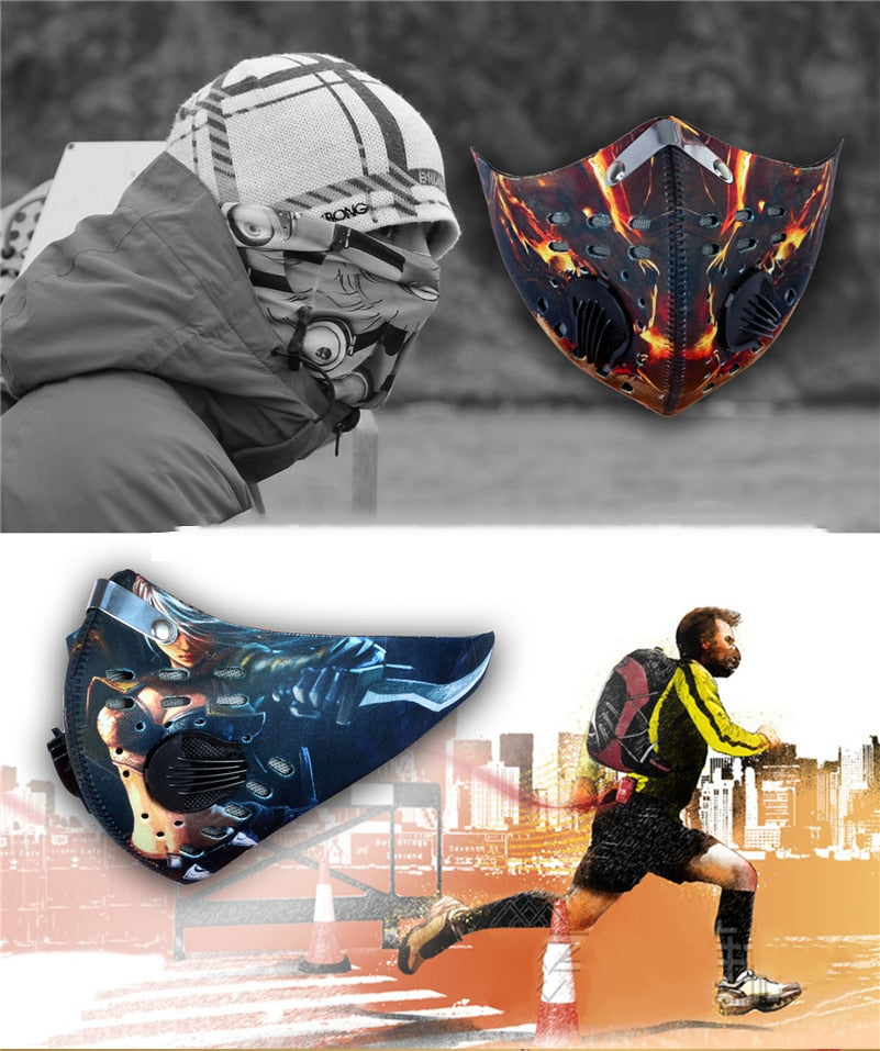 WEST BIKING N95 Dust-proof Cycling Mask With Filter Activated Carbon Bike Face Mask Outdoor Coronavirus Mask Bicycle Face Shield - cybershoestore.com