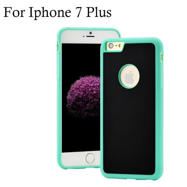 6 6s Novel Anti-gravity Phone Case For iPhone 6 6s 7 Plus Magical Anti gravity Nano Suction Cover Adsorbed Car Antigravity Cases - cybershoestore.com
