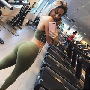 Yoga Women Set Workout Clothing Gym Leggings Fitness Clothing Athletic Wear Jogging Suit Yoga Set - cybershoestore.com