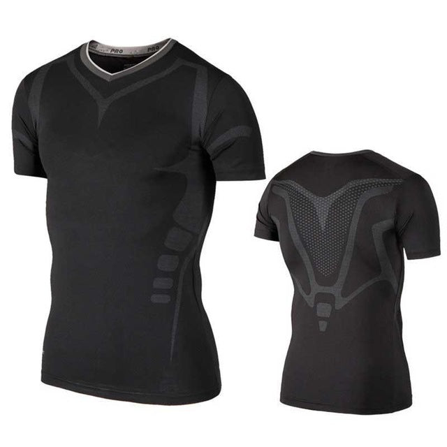 Quick Dry Compression Workout GYM Fitness Tees - cybershoestore.com