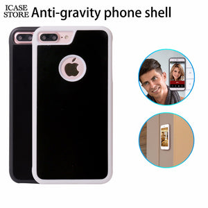 Anti-gravity Phone Case For iPhone X 8 7 6s Plus 6 5S Magical Anti Gravity Nano Suction Back Cover Antigravity case - cybershoestore.com