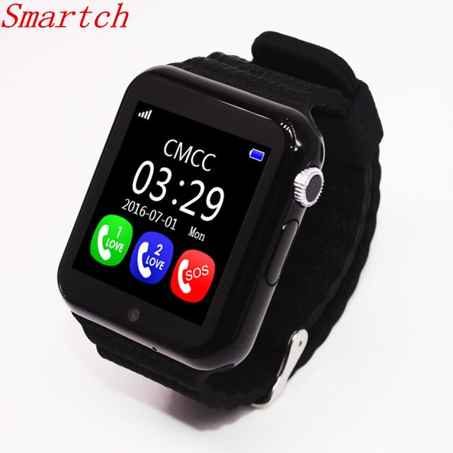 GPS Bluetooth Smart Watch for Kids Boy Girl Apple Android Phone Support SIM /TF Dial Call and Push