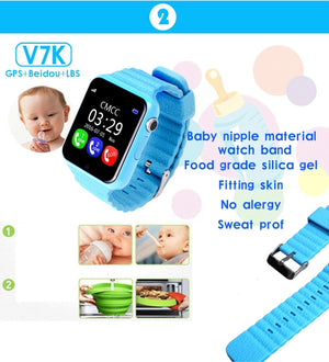 GPS Bluetooth Smart Watch for Kids Boy Girl Apple Android Phone Support SIM /TF Dial Call and Push - cybershoestore.com