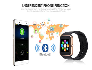 2019 Hot Torntisc GT08 Smart Watch phone support TF SIM card MP3 0.3MP camera Bluetooth Sync Notifier Clock for apple android OS - cybershoestore.com