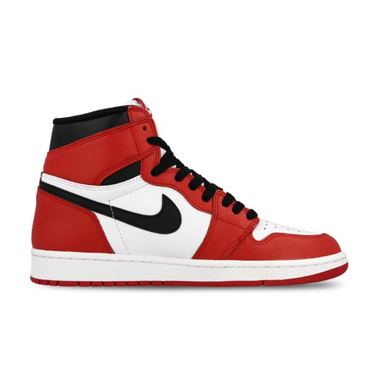 Nike Air Jordan 1 Retro High-top OG Authentic Red White Breathable Mens Basketball Shoes Sneakers For Men Shoes - cybershoestore.com
